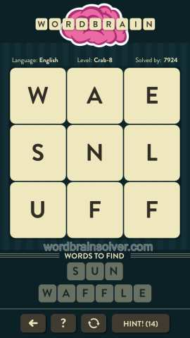WORDBRAIN-CRAB-LEVEL-8
