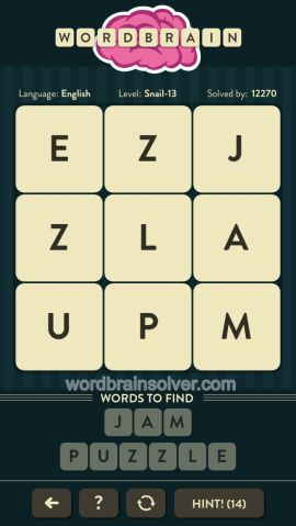 WORDBRAIN-SNAIL-LEVEL-13