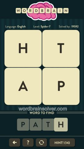WORDBRAIN-SPIDER-LEVEL-7