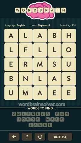 WORDBRAIN-ELEPHANT-LEVEL-3