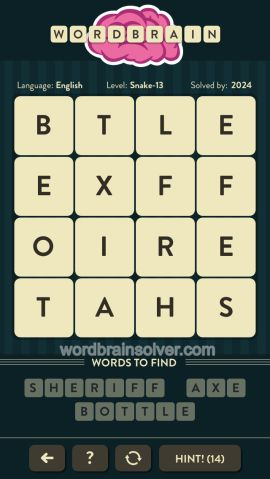 WORDBRAIN-SNAKE-LEVEL-13