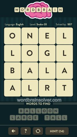 WORDBRAIN-SNAKE-LEVEL-20
