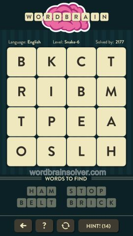 WORDBRAIN-SNAKE-LEVEL-6