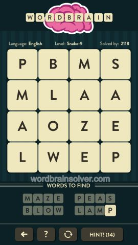 WORDBRAIN-SNAKE-LEVEL-9