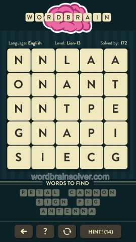 WORDBRAIN-LION-LEVEL-13