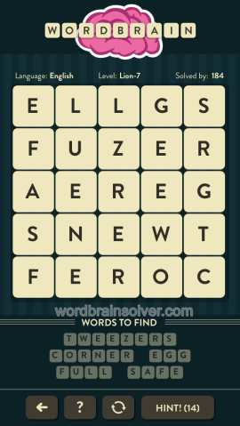 WORDBRAIN-LION-LEVEL-7