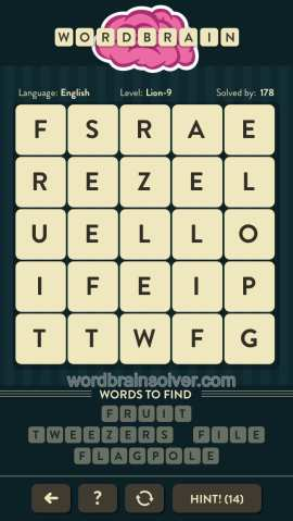 WORDBRAIN-LION-LEVEL-9